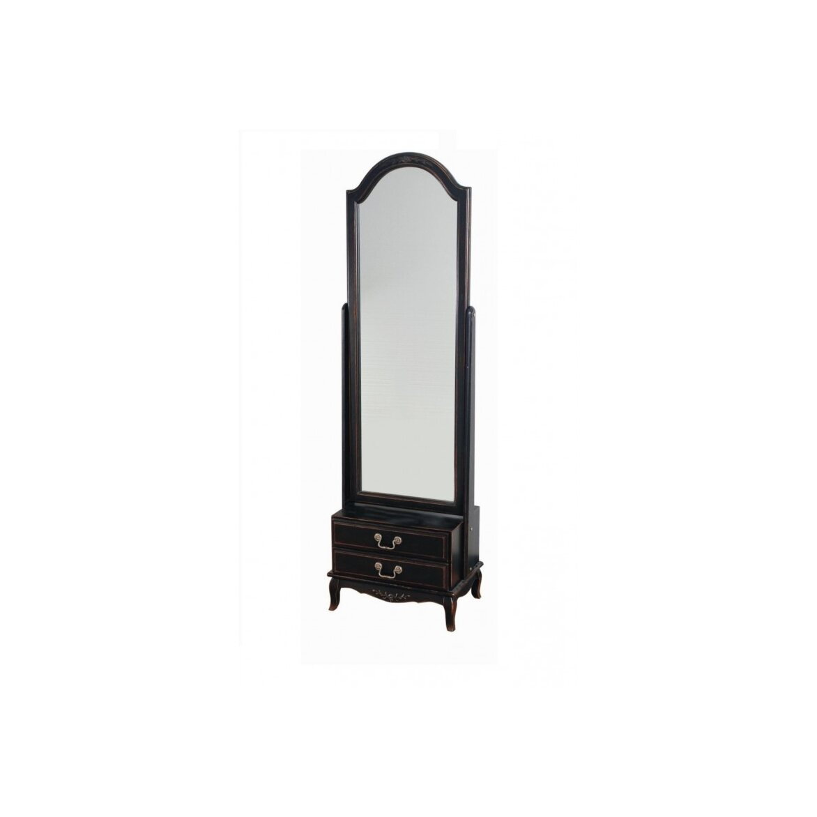Большое напольное зеркало Leontina, черного цвета | Прямоугольные зеркала Kingsby