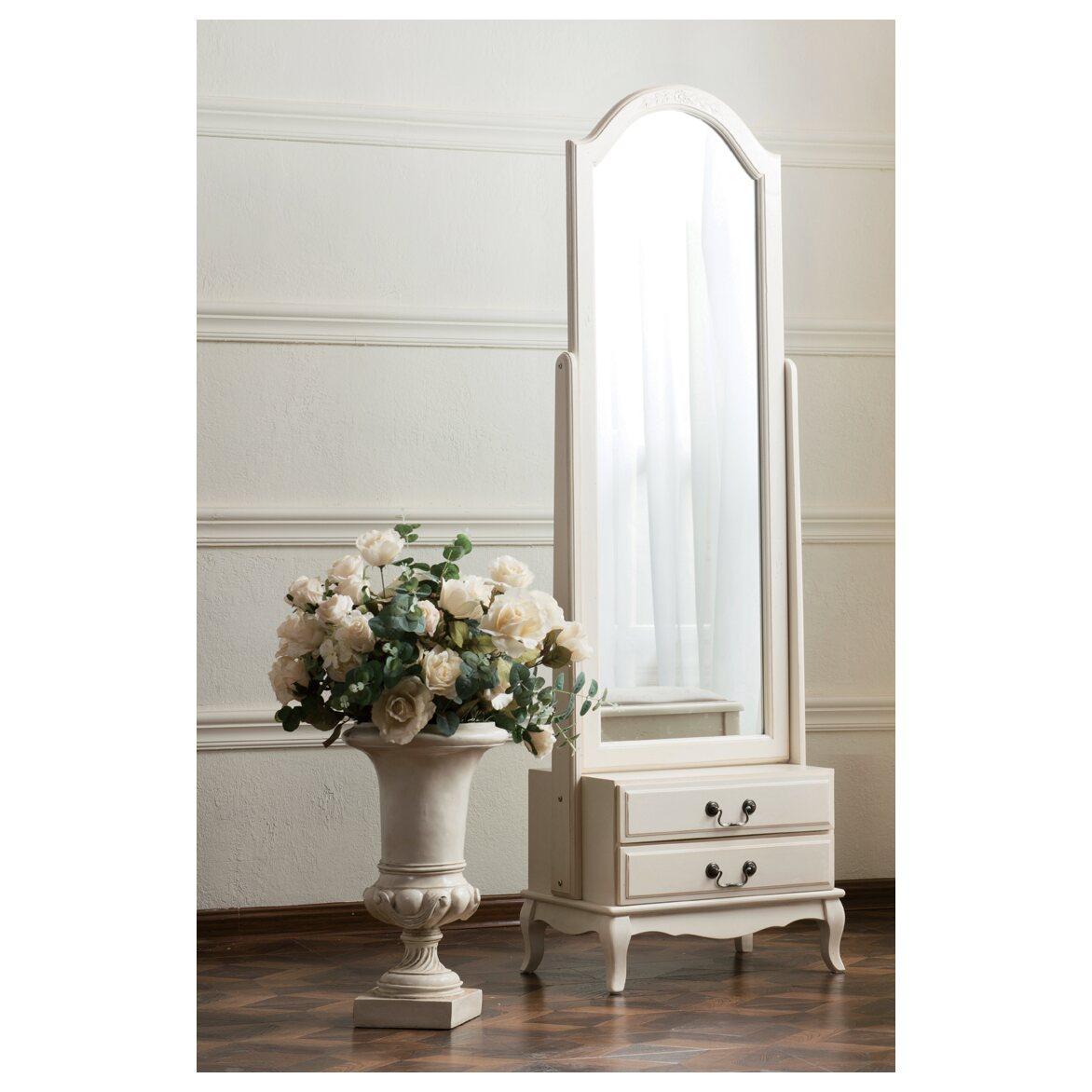 Напольное зеркало Leontina, бежевого цвета 4 | Прямоугольные зеркала Kingsby