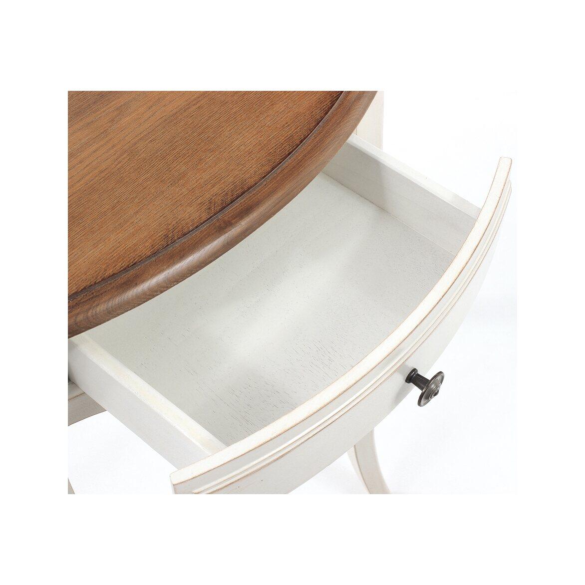 Овальная консоль (без зеркала) Leontina, бежевого цвета 3 | Консоли Kingsby