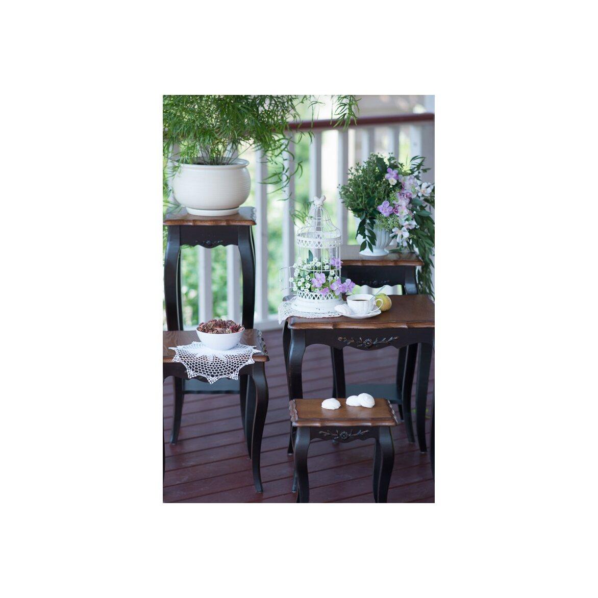 Консоль-подставка под цветы (низкая) Leontina, черного цвета 3 | Консоли Kingsby