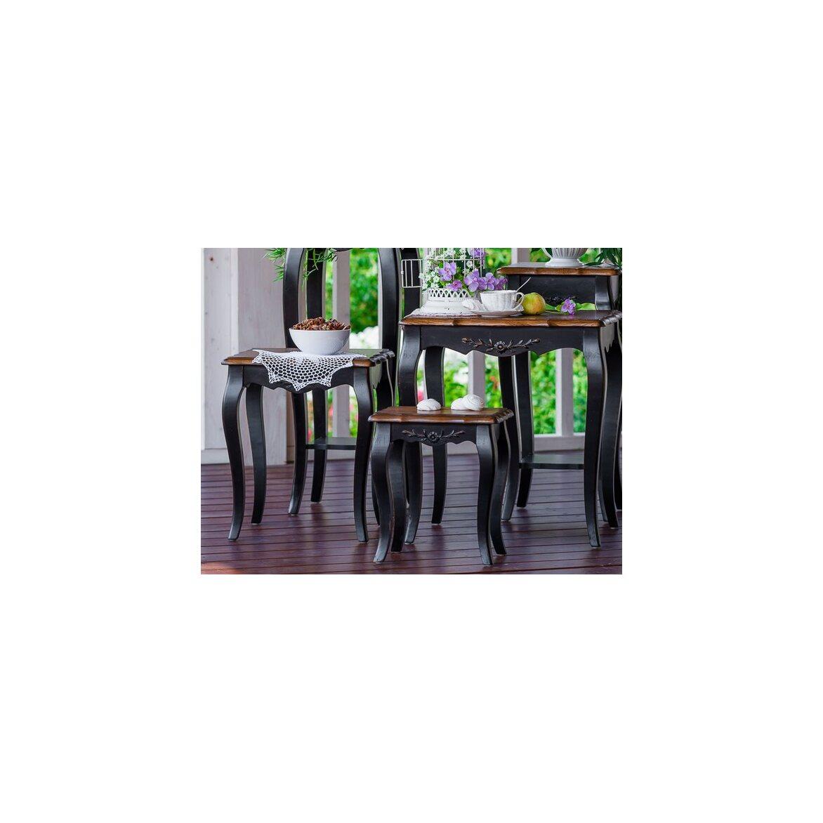 Консольные столики (комплект) Leontina, черного цвета 4 | Консоли Kingsby
