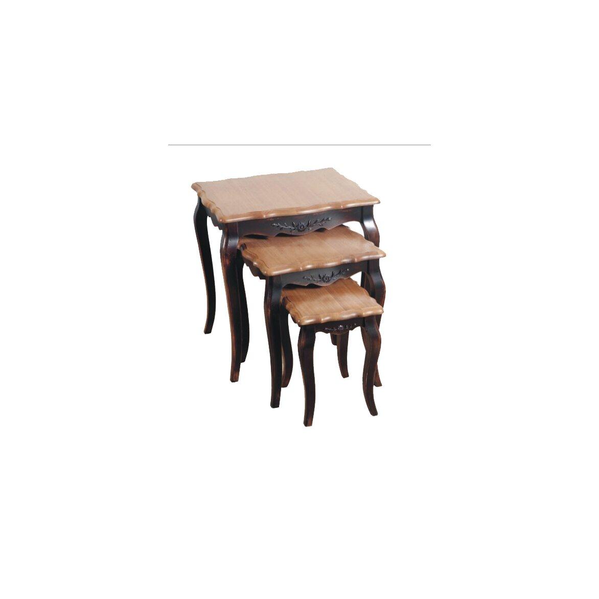 Консольные столики (комплект) Leontina, черного цвета | Консоли Kingsby