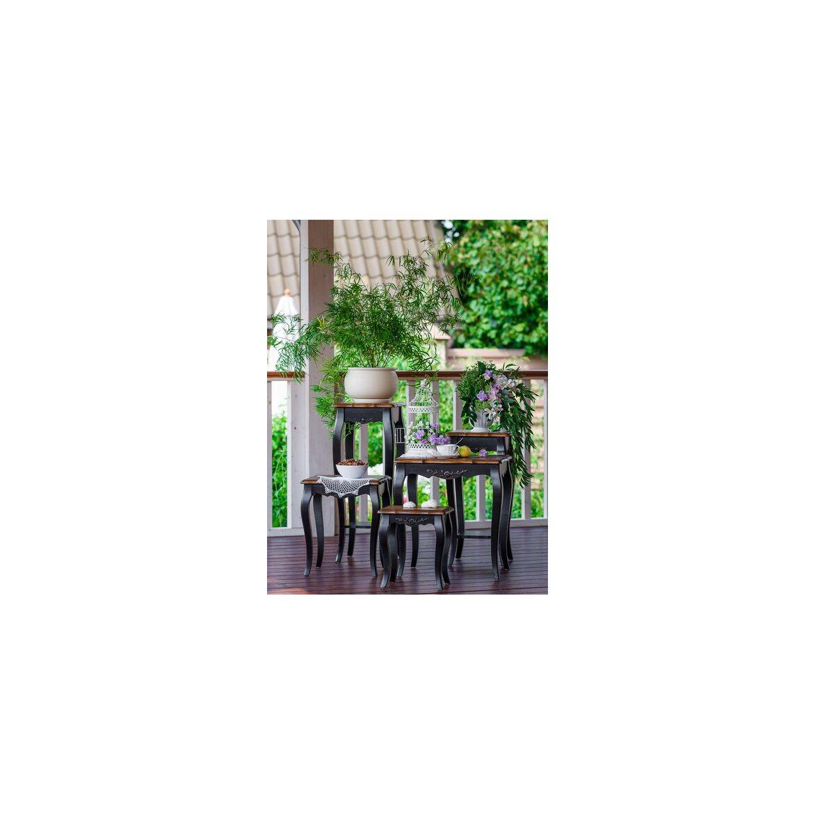 Консольные столики (комплект) Leontina, черного цвета 5 | Консоли Kingsby