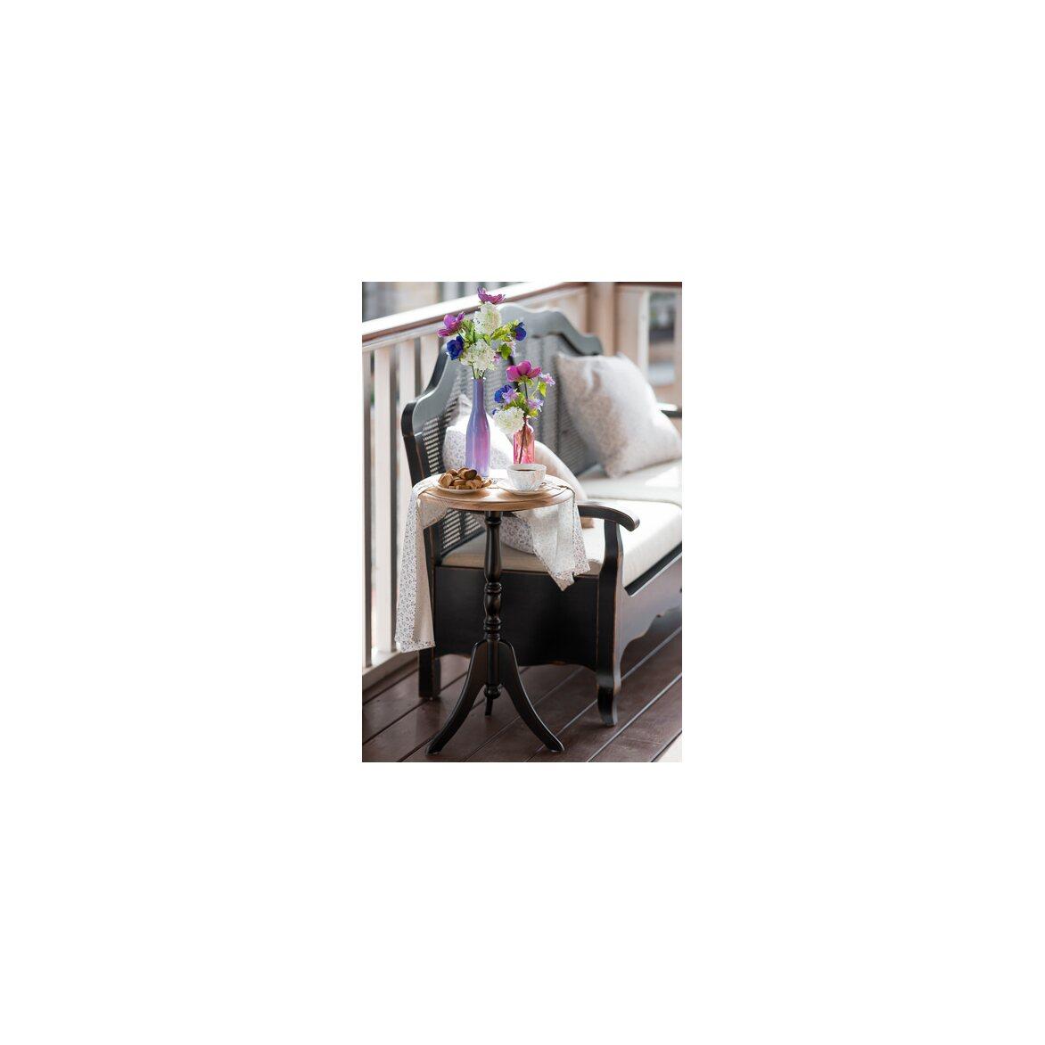 Кофейный столик Leontina (круглый), черного цвета 2 | Кофейные столики Kingsby
