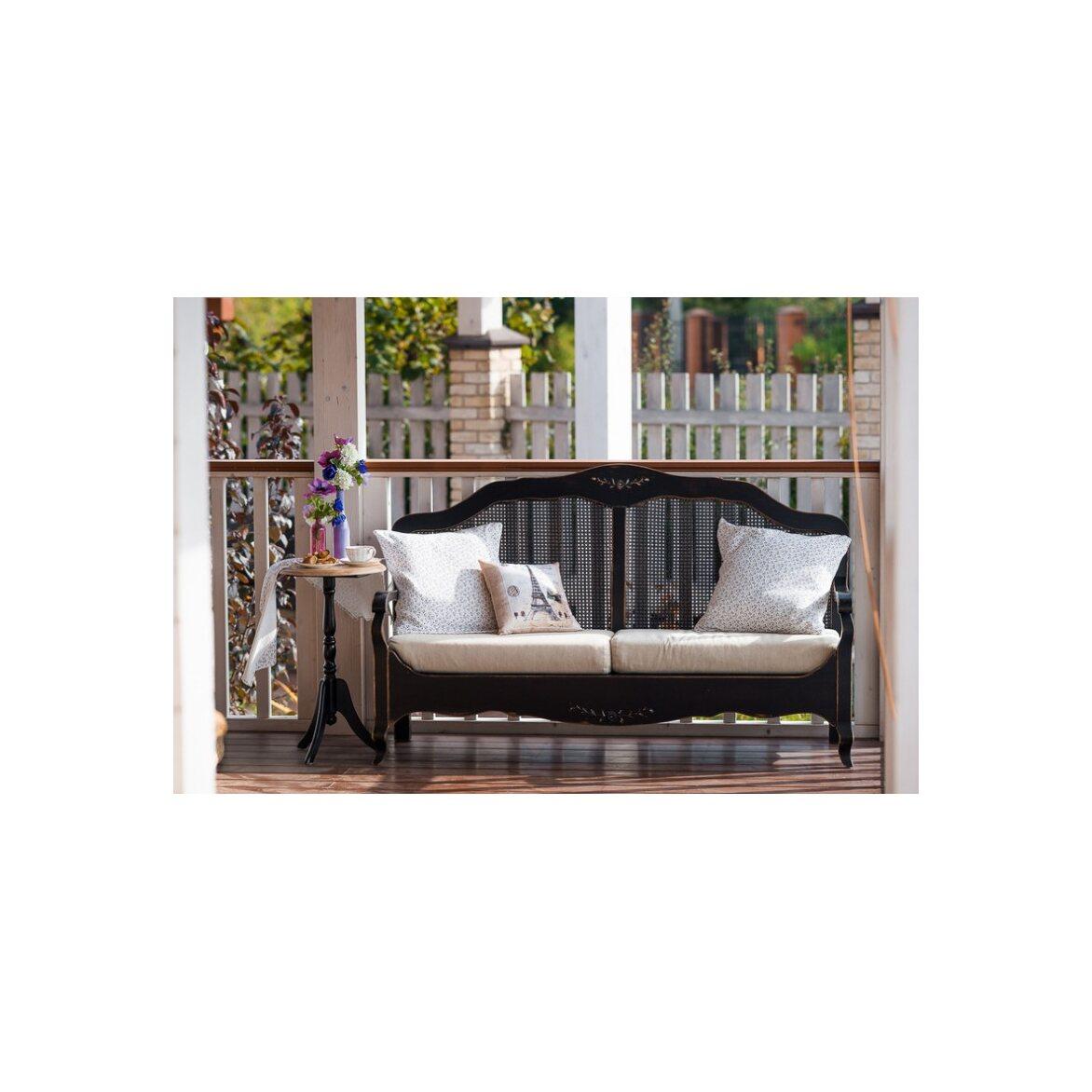 Кофейный столик Leontina (круглый), черного цвета 3 | Кофейные столики Kingsby