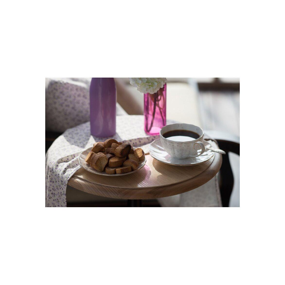 Кофейный столик Leontina (круглый), черного цвета 4 | Кофейные столики Kingsby