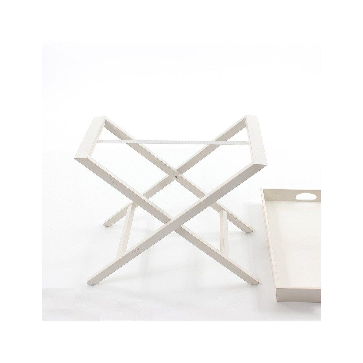 Раскладной столик Leontina, бежевого цвета 5 | Кофейные столики Kingsby