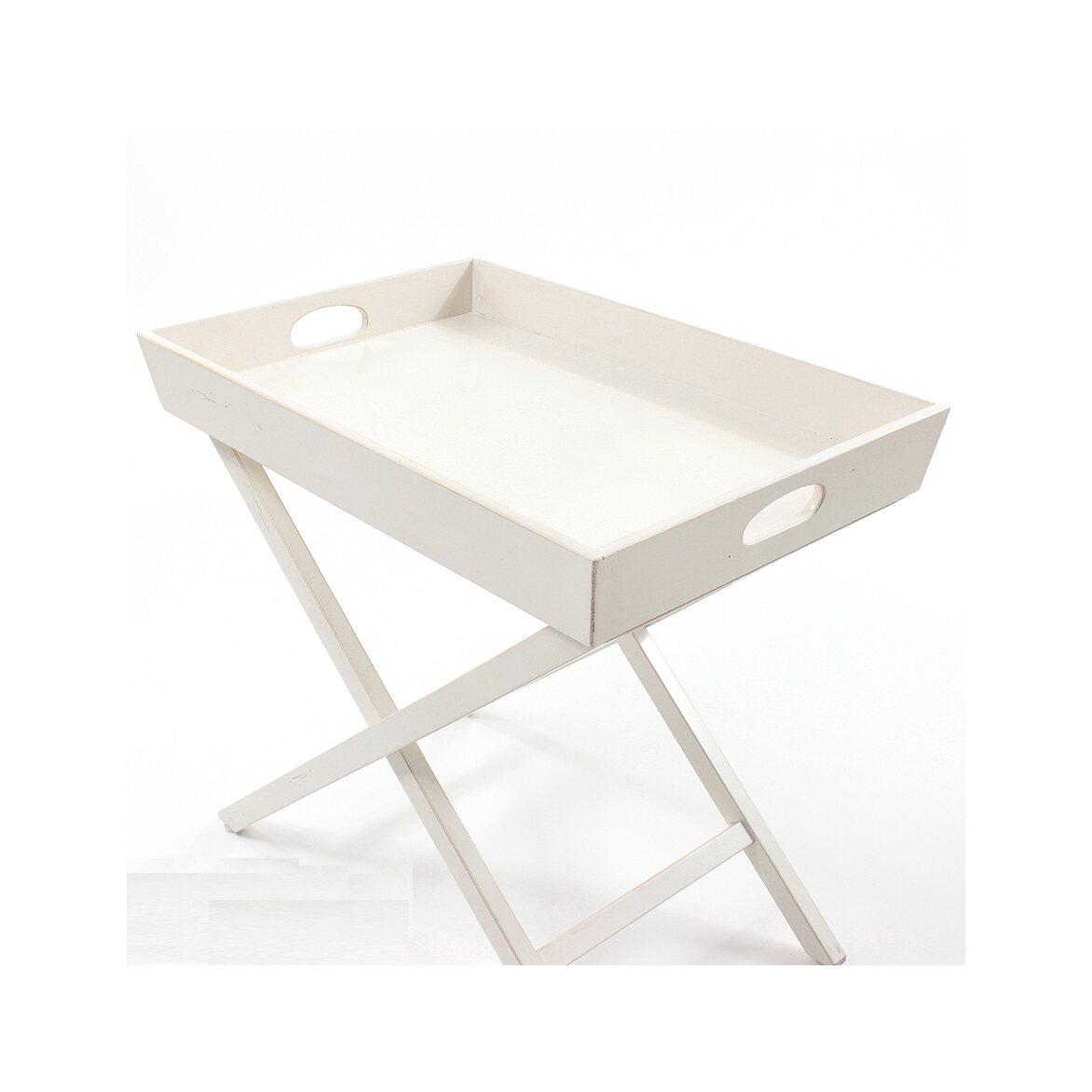 Раскладной столик Leontina, бежевого цвета | Кофейные столики Kingsby