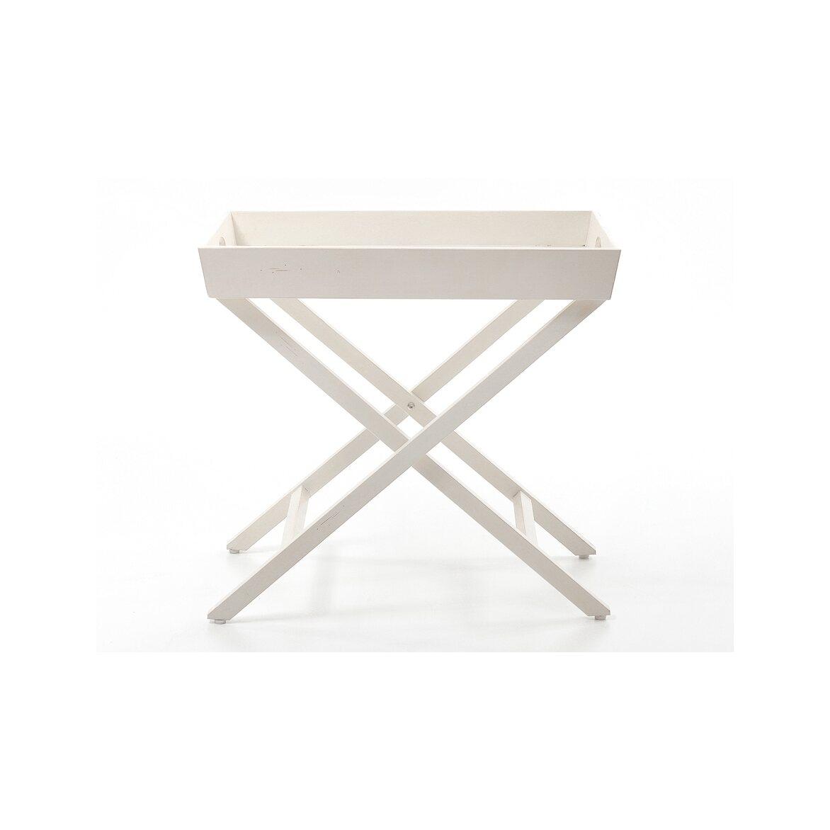 Раскладной столик Leontina, бежевого цвета 3 | Кофейные столики Kingsby