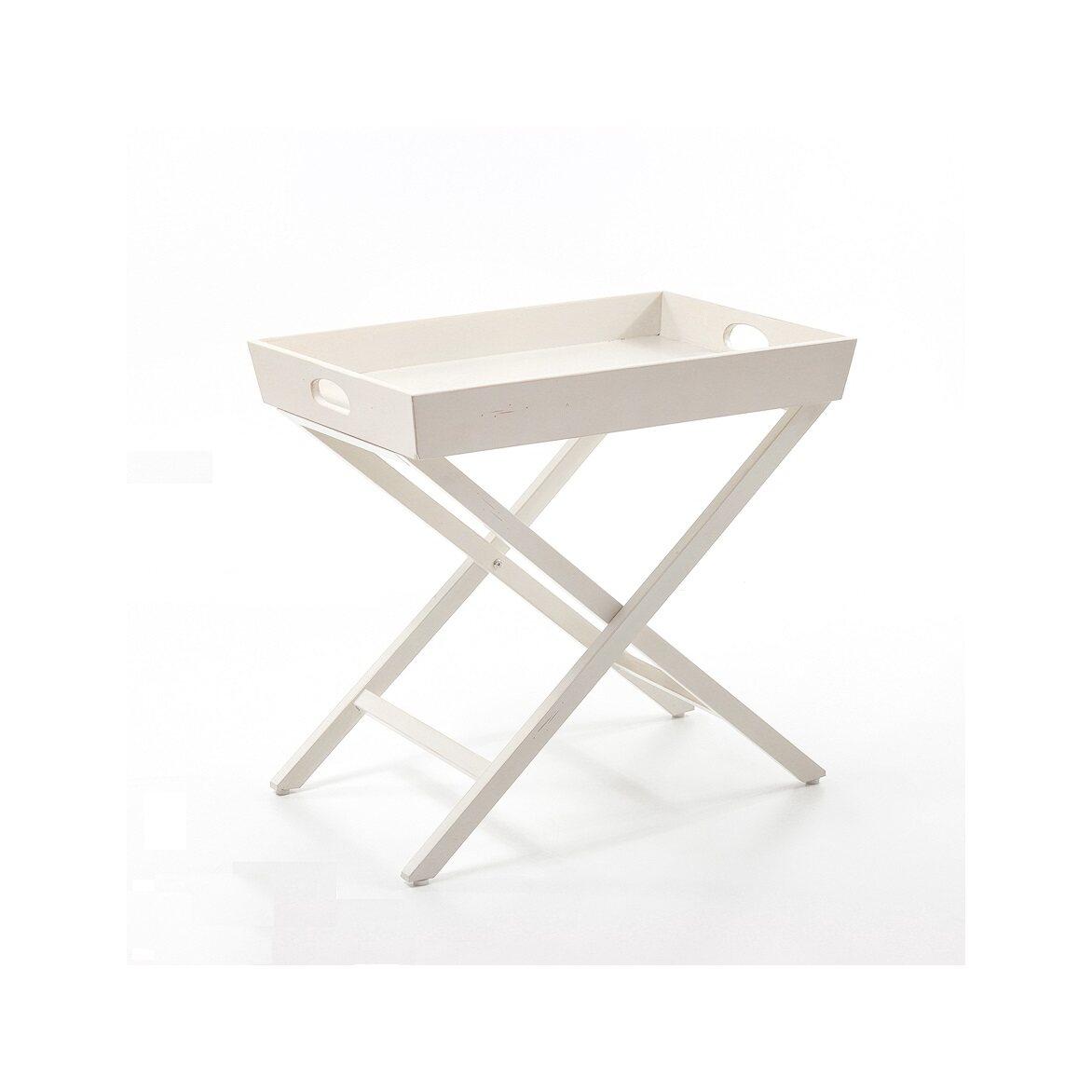 Раскладной столик Leontina, бежевого цвета 4 | Кофейные столики Kingsby