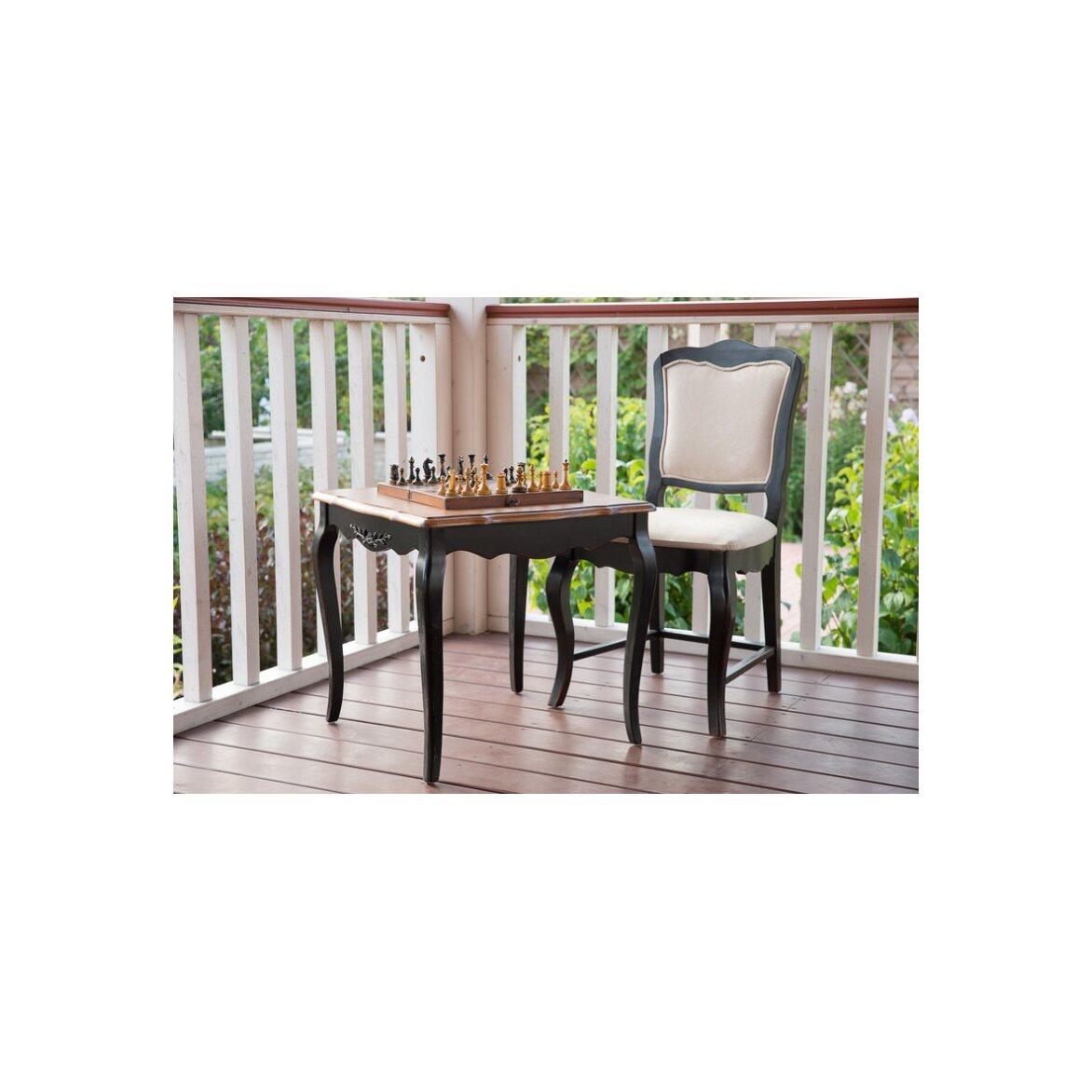Чайный столик (квадратный) Leontina, черного цвета 2   Журнальные столики Kingsby