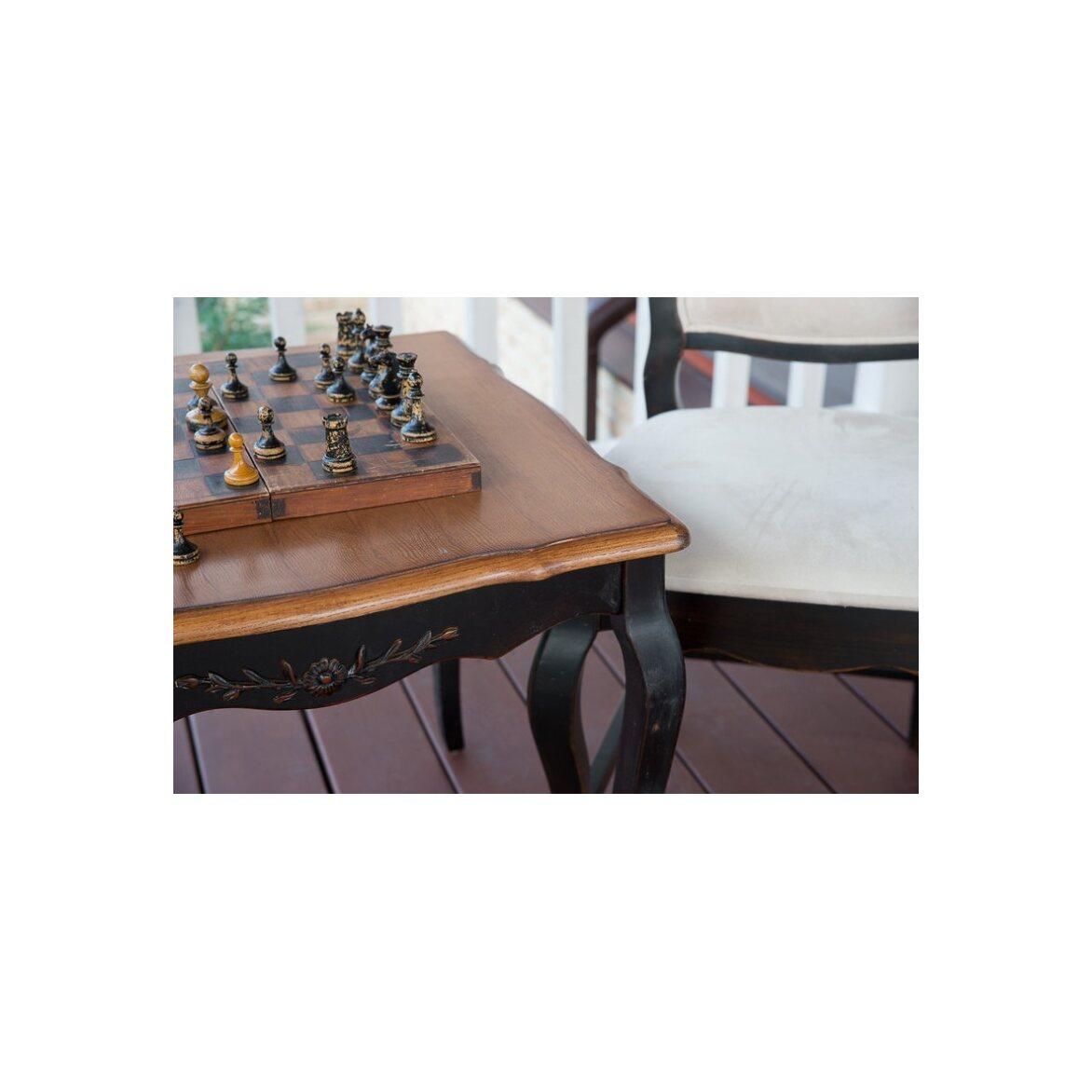 Чайный столик (квадратный) Leontina, черного цвета 3   Журнальные столики Kingsby