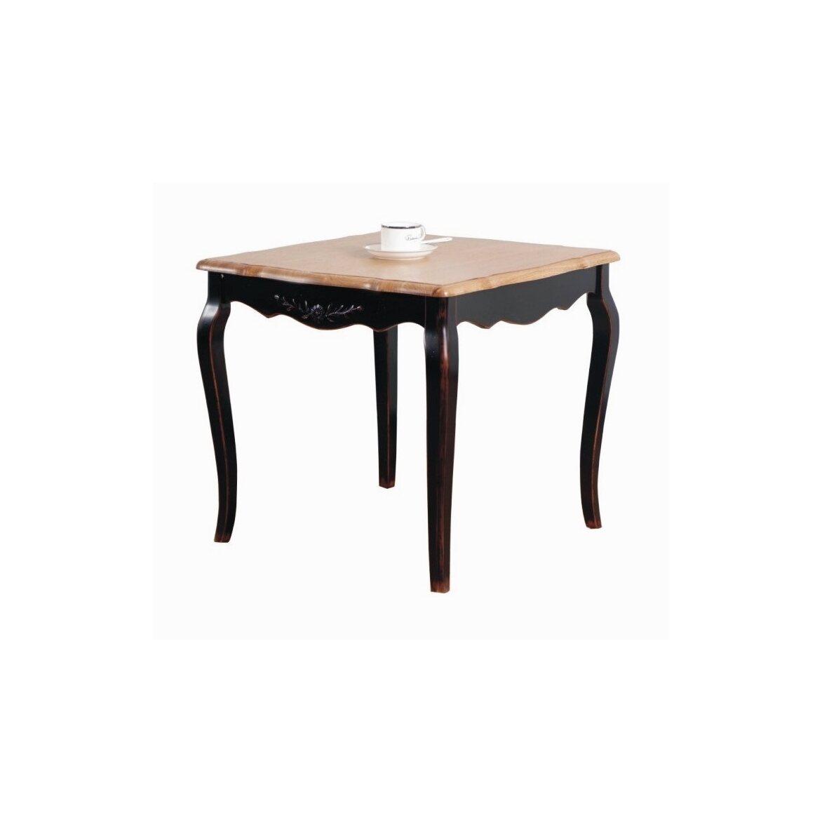 Чайный столик (квадратный) Leontina, черного цвета   Журнальные столики Kingsby