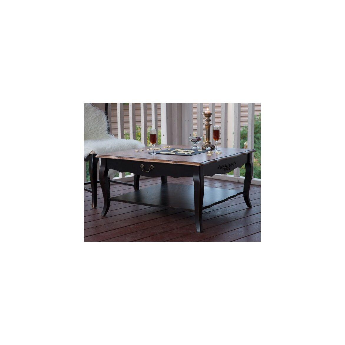 Квадратный низкий чайный столик Leontina, черного цвета 5 | Журнальные столики Kingsby
