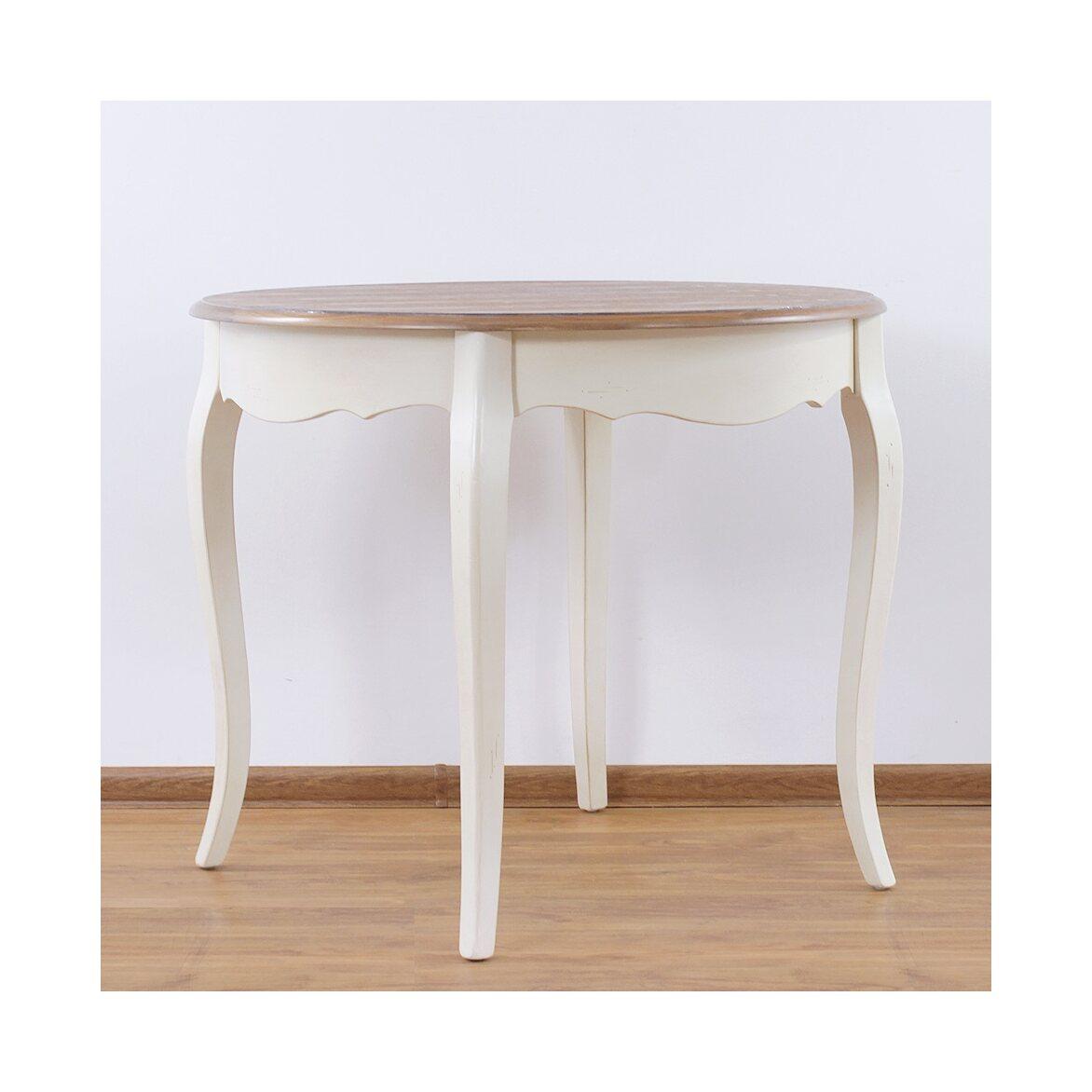 Круглый обеденный стол (большой) Leontina, бежевого цвета 5 | Обеденные столы Kingsby