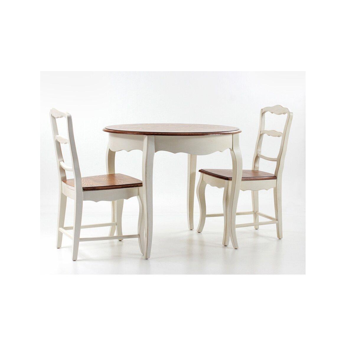 Круглый обеденный стол (большой) Leontina, бежевого цвета 9 | Обеденные столы Kingsby