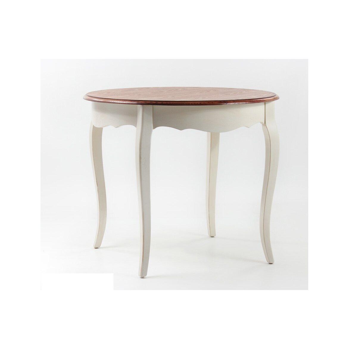 Круглый обеденный стол Leontina (малый), бежевого цвета | Обеденные столы Kingsby