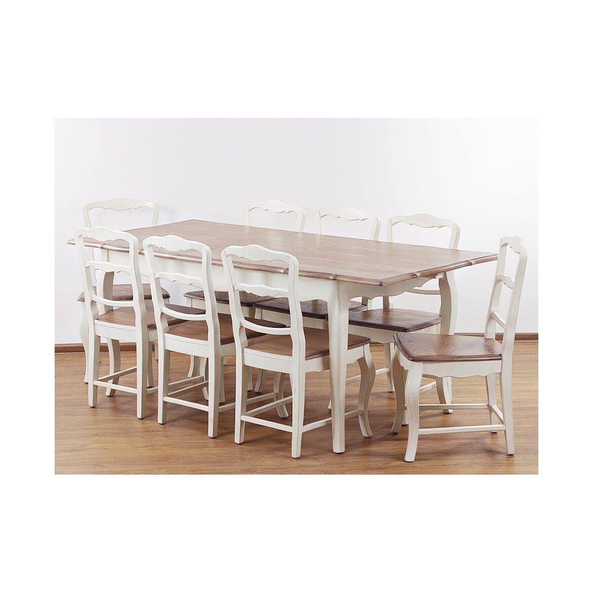 Обеденный стол раскладной Leontina, бежевого цвета 8   Обеденные столы Kingsby