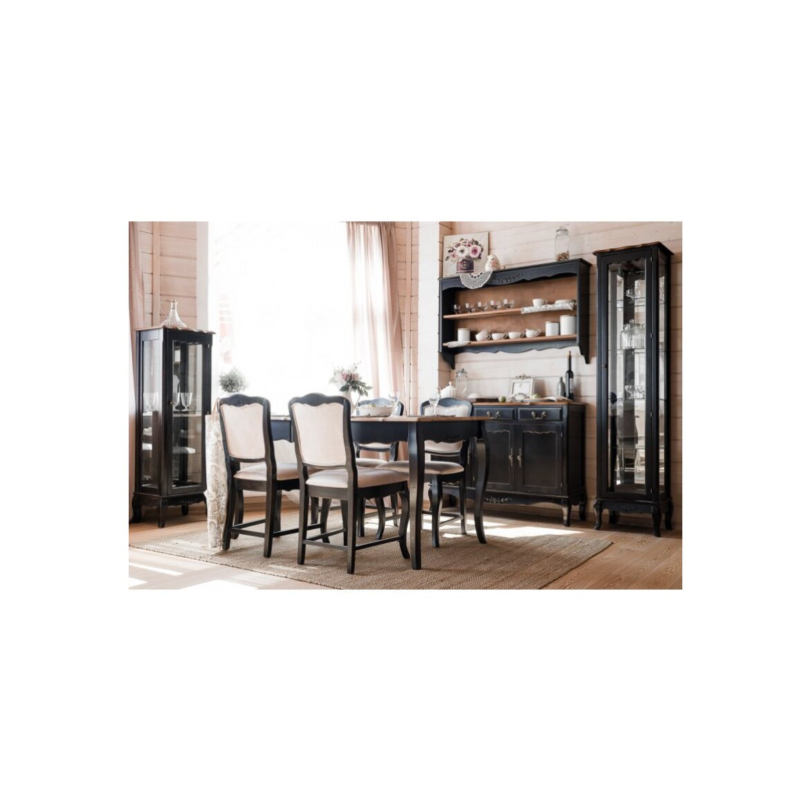 Стул с мягким сиденьем Leontina, черного цвета 4 | Обеденные стулья Kingsby