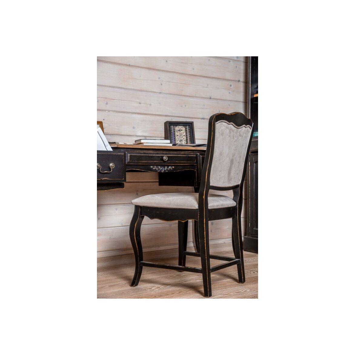 Стул с мягким сиденьем Leontina, черного цвета 2 | Обеденные стулья Kingsby