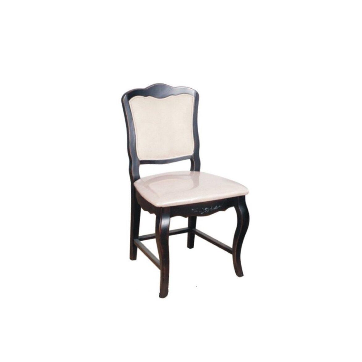 Стул с мягким сиденьем Leontina, черного цвета | Обеденные стулья Kingsby