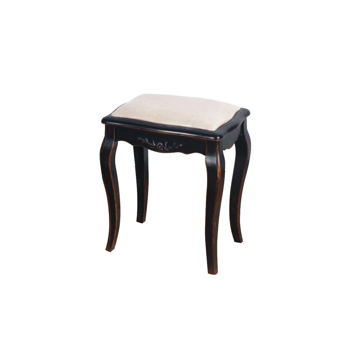 Табурет с мягким сиденьем к макияжному столику Leontina, черного цвета   Стулья Kingsby