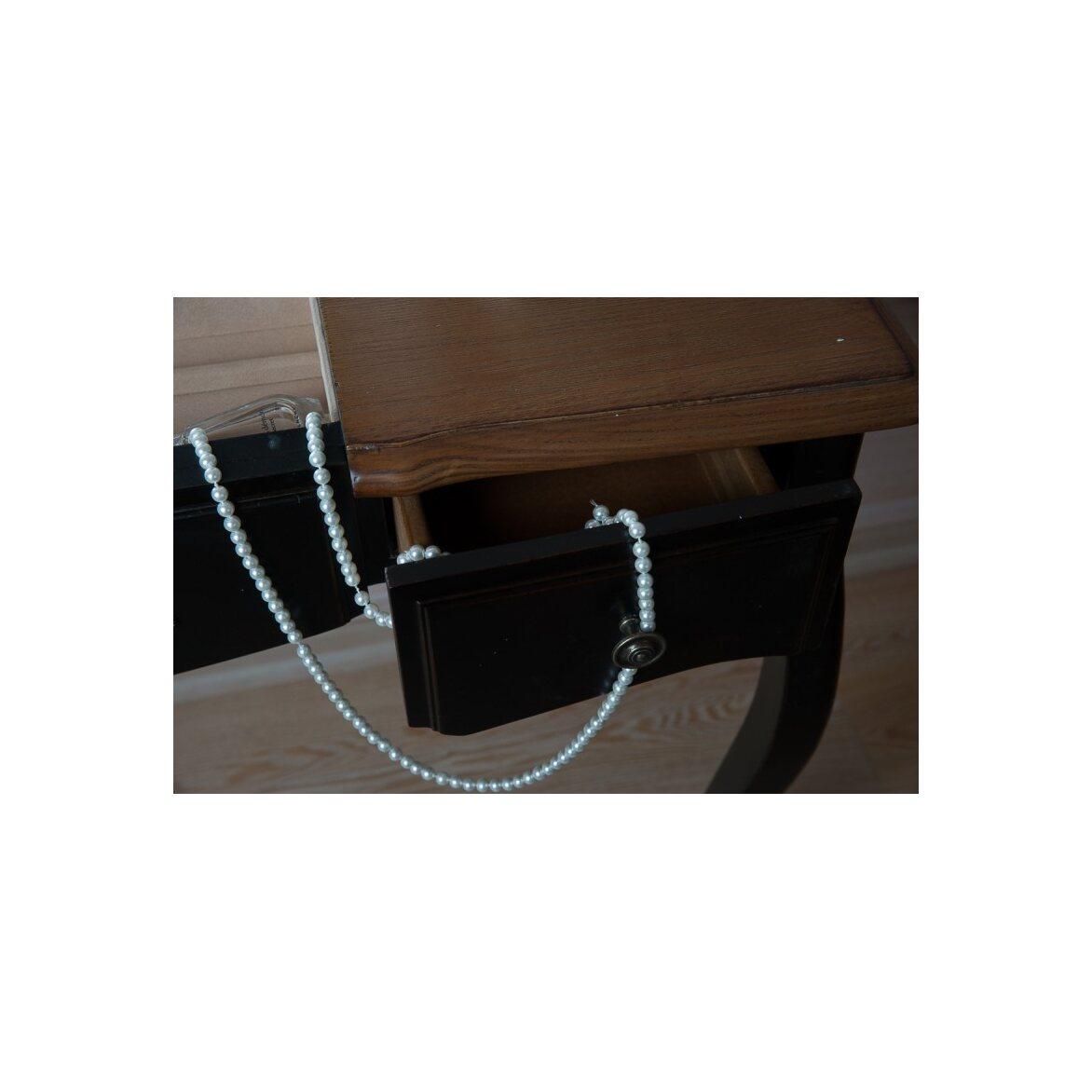 Туалетный столик с зеркалом Leontina, черного цвета 6 | Туалетные столики Kingsby