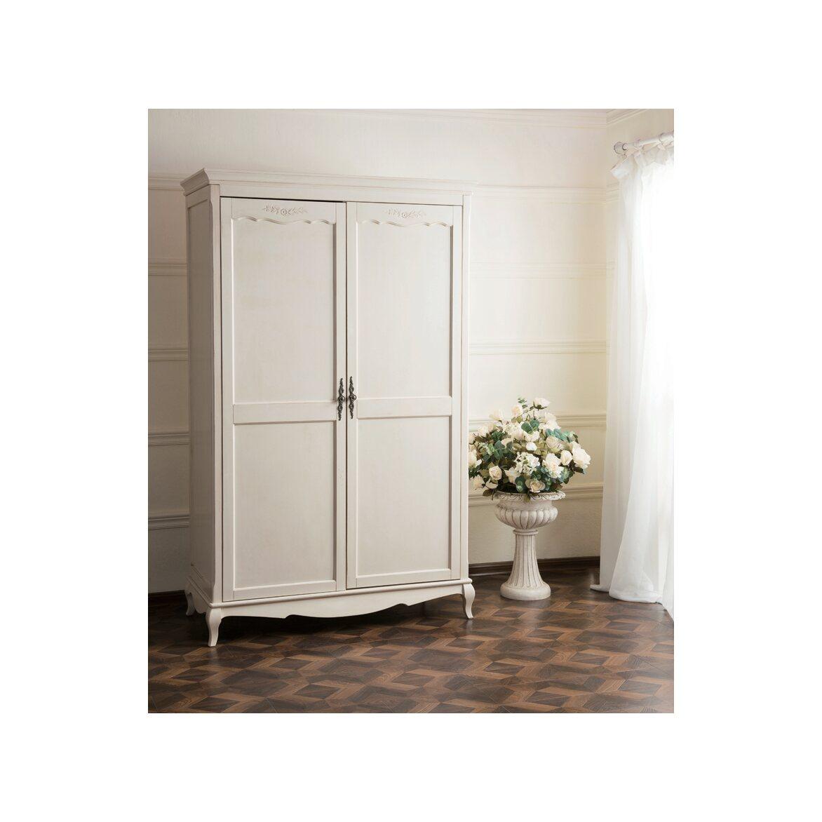 Платяной шкаф двухстворчатый Leontina, бежевого цвета   Платяные шкафы Kingsby