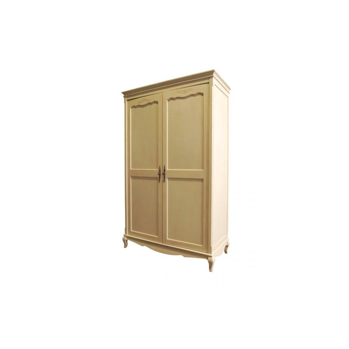 Платяной шкаф двухстворчатый Leontina, бежевого цвета 2   Платяные шкафы Kingsby