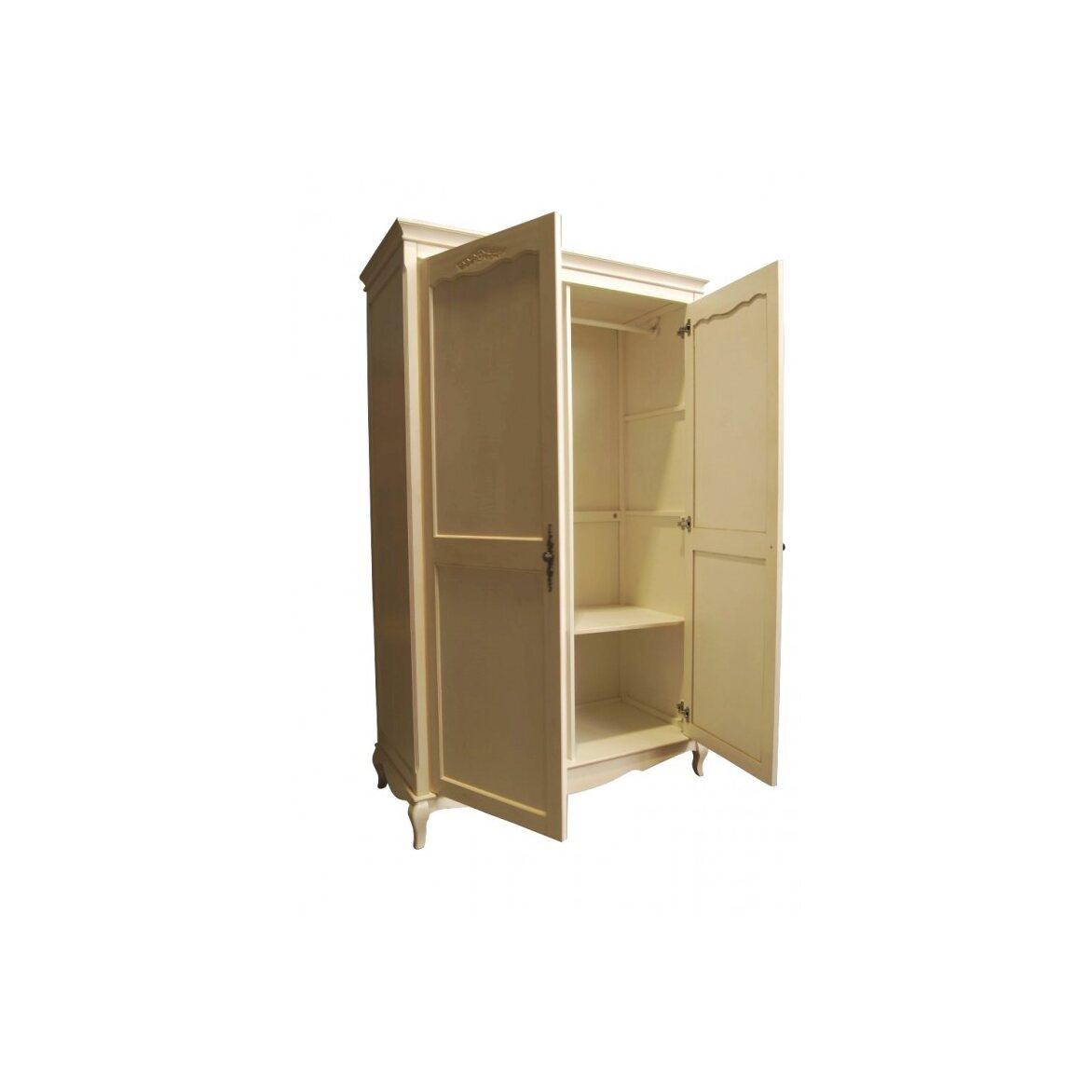 Платяной шкаф двухстворчатый Leontina, бежевого цвета 5   Платяные шкафы Kingsby