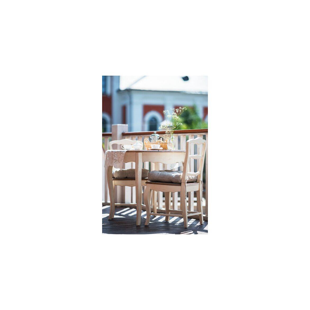 Круглый обеденный стол Leontina (малый), бежевого цвета 2 | Обеденные столы Kingsby
