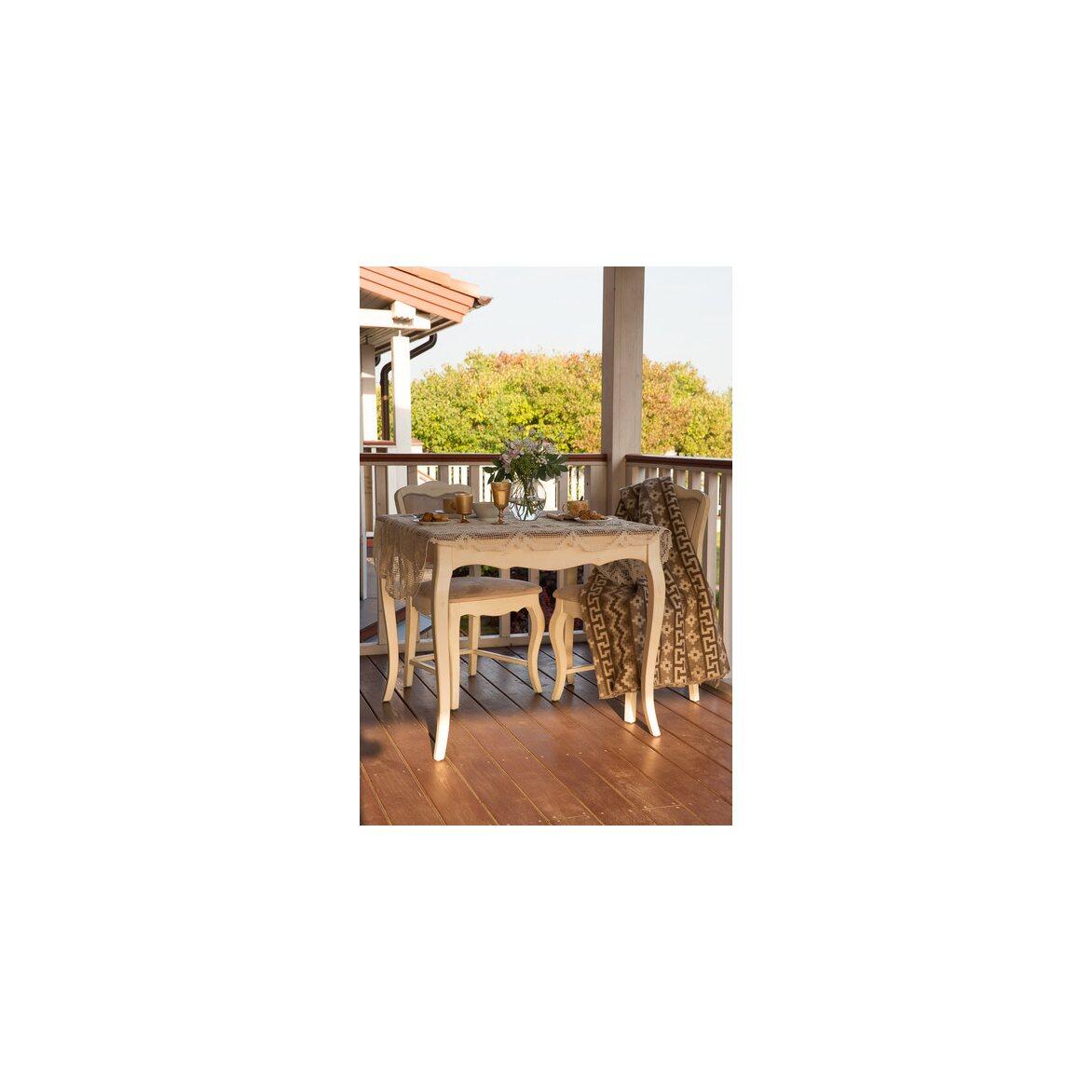 Обеденный стол (квадратный) Leontina, бежевого цвета 2   Обеденные столы Kingsby
