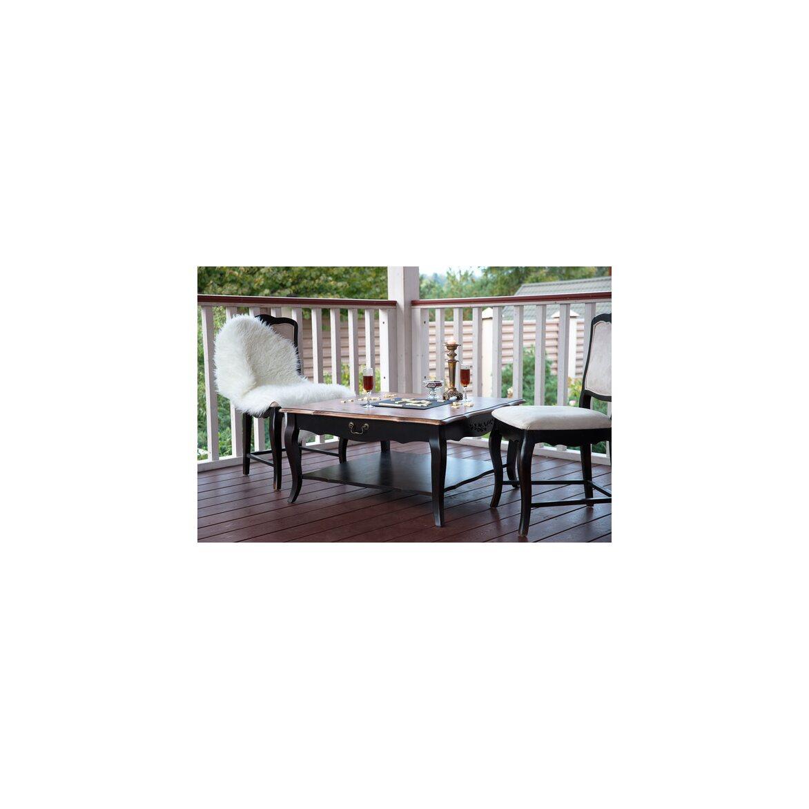 Квадратный низкий чайный столик Leontina, черного цвета 2 | Журнальные столики Kingsby