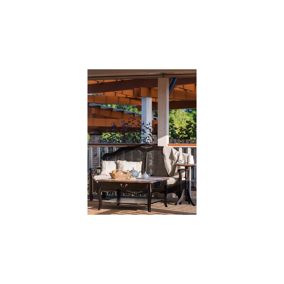 Квадратный низкий чайный столик Leontina, черного цвета 3 | Журнальные столики Kingsby