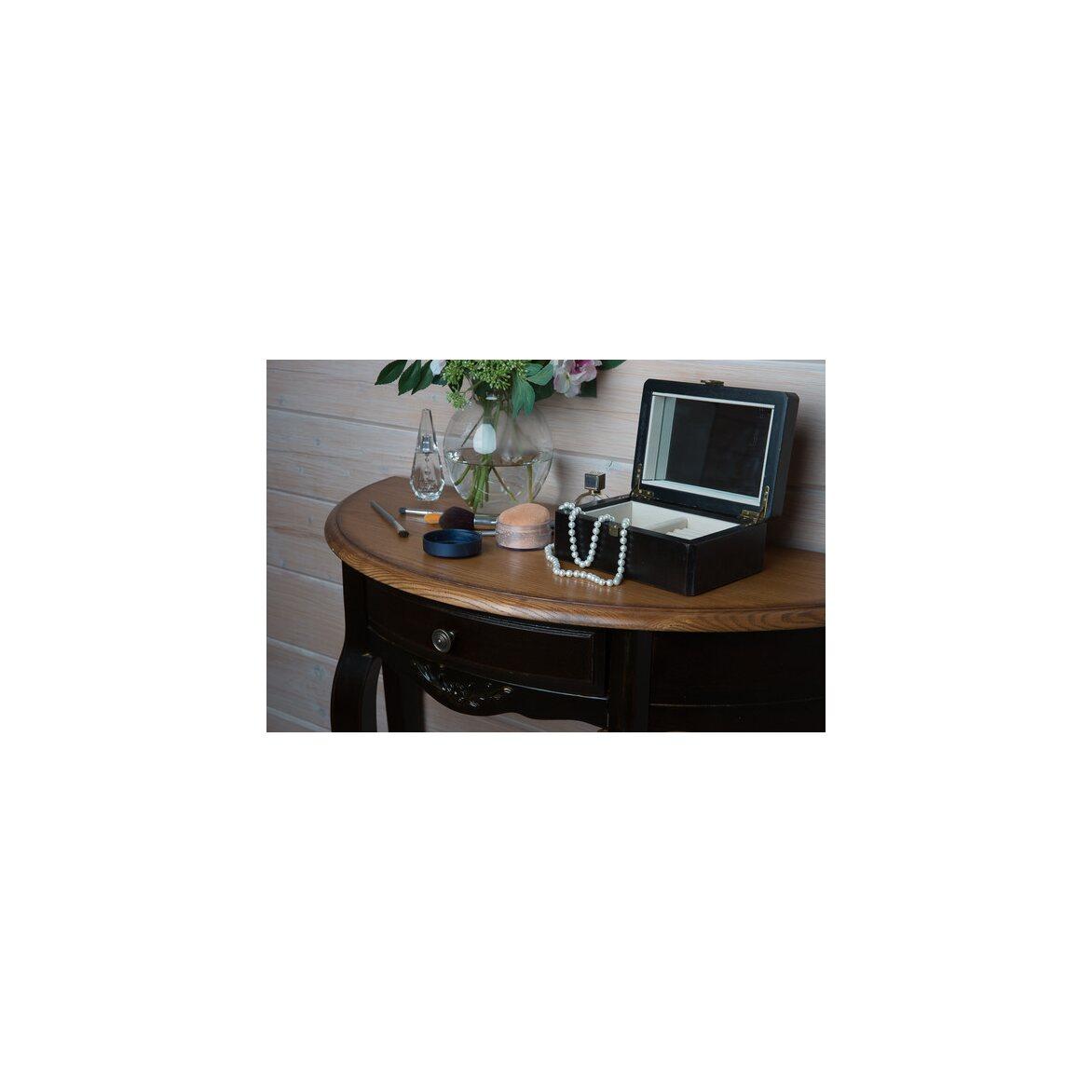 Овальная консоль (без зеркала) Leontina, черного цвета 2 | Консоли Kingsby