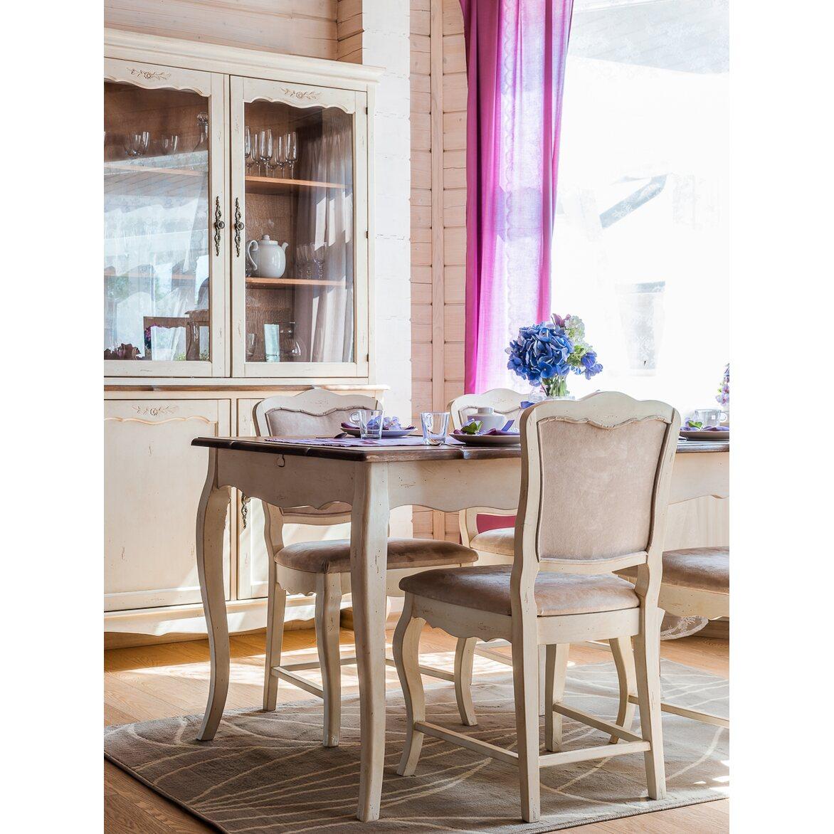 Обеденный стол раскладной Leontina, бежевого цвета 2   Обеденные столы Kingsby