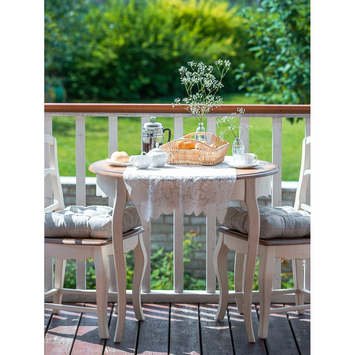Круглый обеденный стол (большой) Leontina, бежевого цвета 2 | Обеденные столы Kingsby