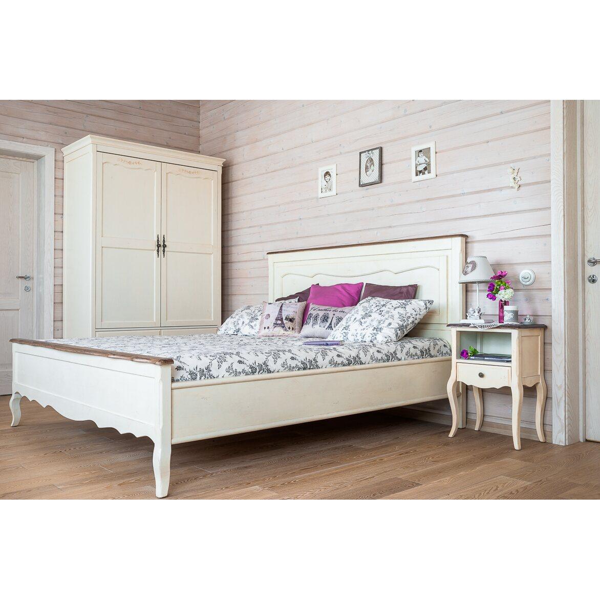 Кровать двуспальная 160*200 Leontina, бежевого цвета 2   Двуспальные кровати Kingsby
