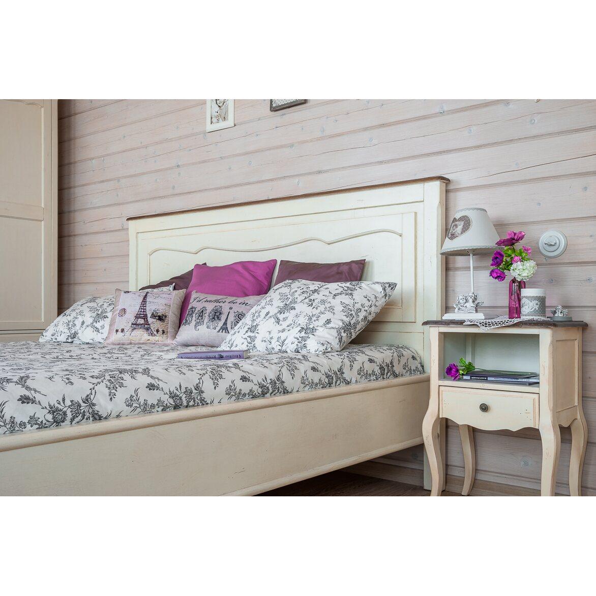 Кровать двуспальная Евро 180*200 Leontina, бежевого цвета 2   Двуспальные кровати Kingsby