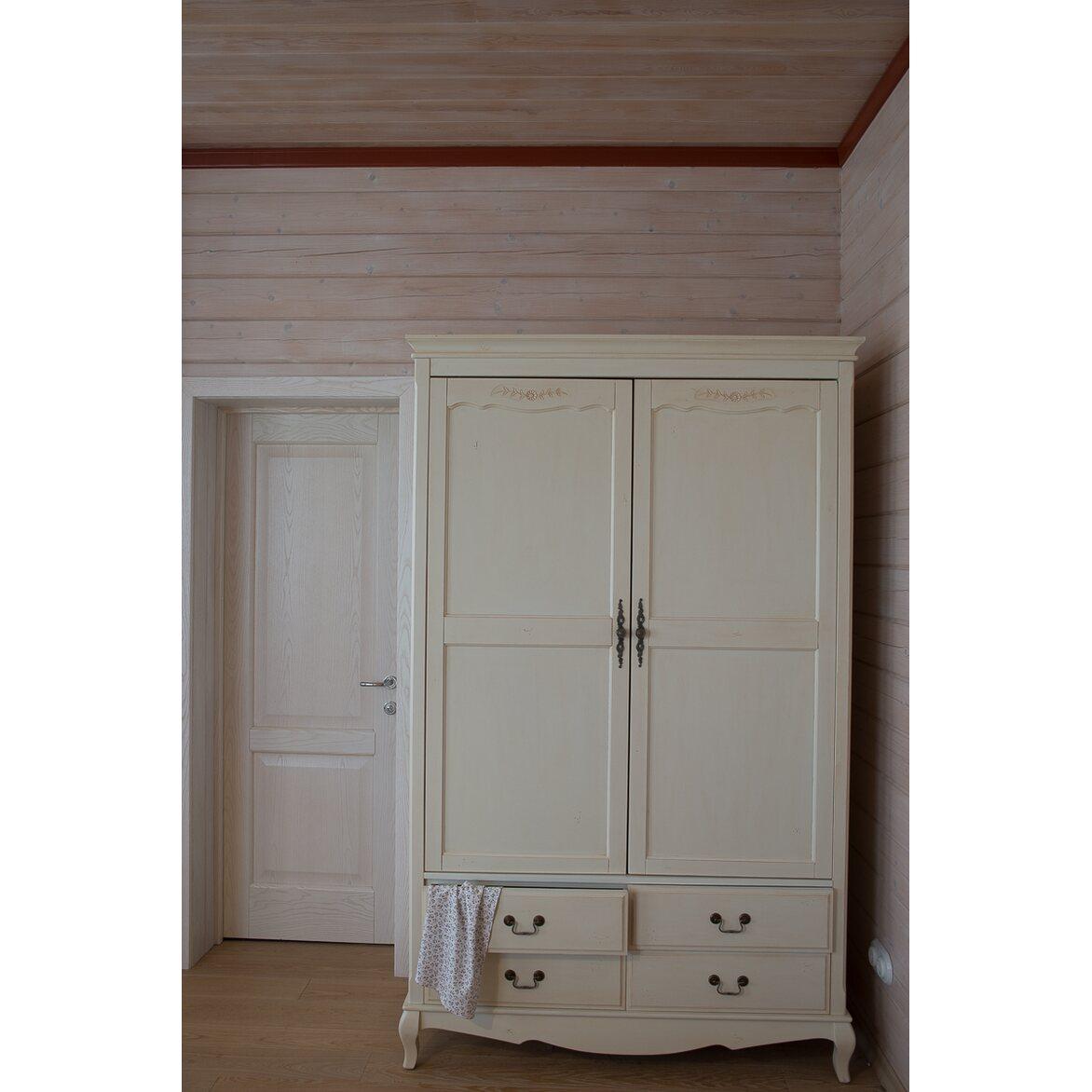 Шкаф двухстворчатый с 4-я ящиками Leontina, бежевого цвета 3 | Платяные шкафы Kingsby