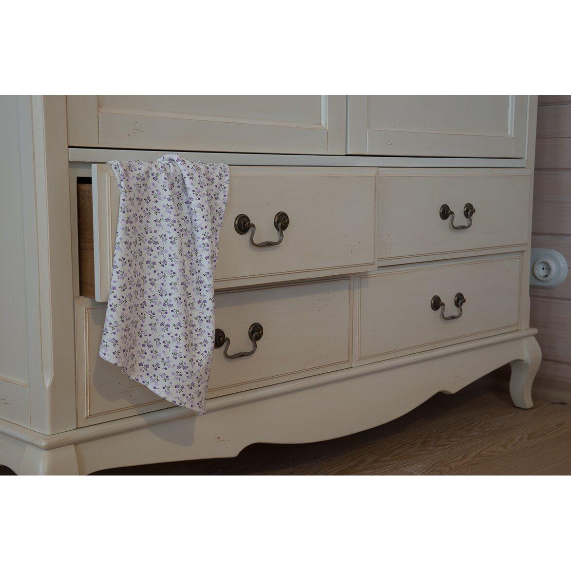 Шкаф двухстворчатый с 4-я ящиками Leontina, бежевого цвета 5 | Платяные шкафы Kingsby