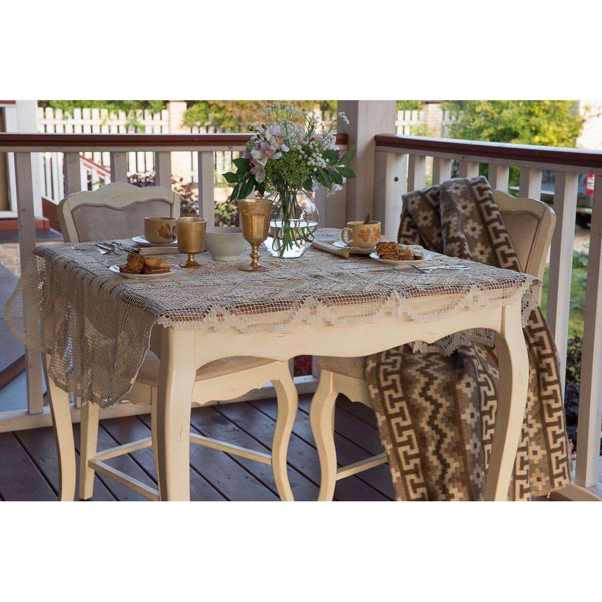 Обеденный стол (квадратный) Leontina, бежевого цвета 4   Обеденные столы Kingsby