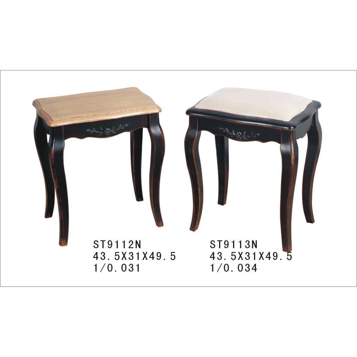 Табурет с мягким сиденьем к макияжному столику Leontina, черного цвета 2   Стулья Kingsby