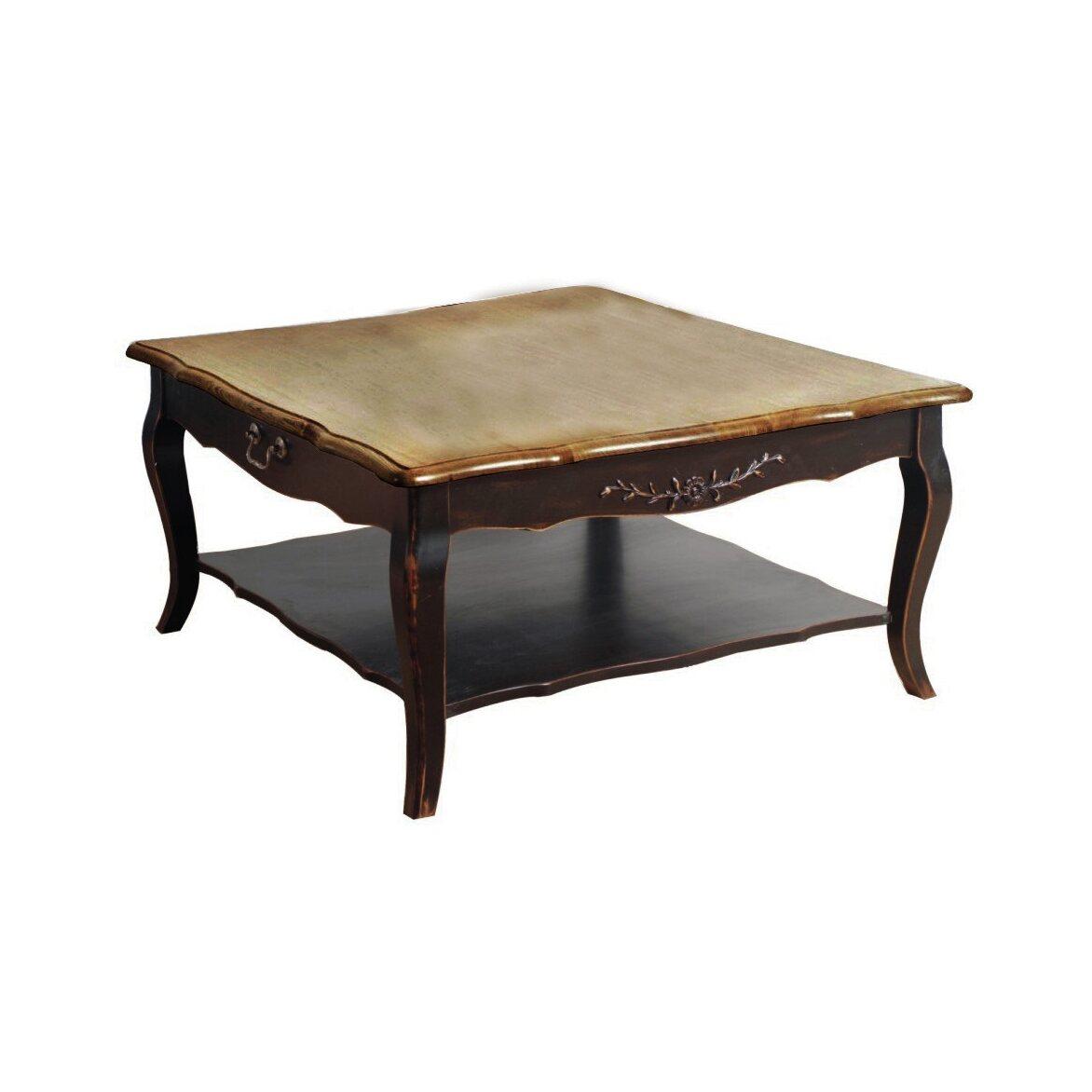 Квадратный низкий чайный столик Leontina, черного цвета 6 | Журнальные столики Kingsby
