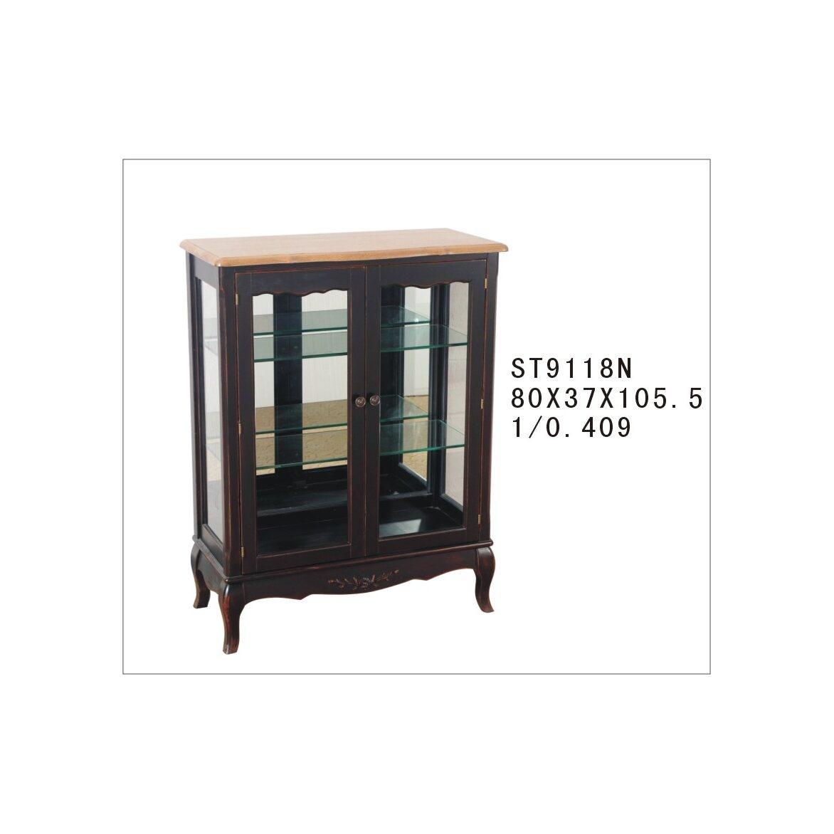 Стеклянная витрина (двойная) Leontina, черного цвета 4 | Витрины Kingsby