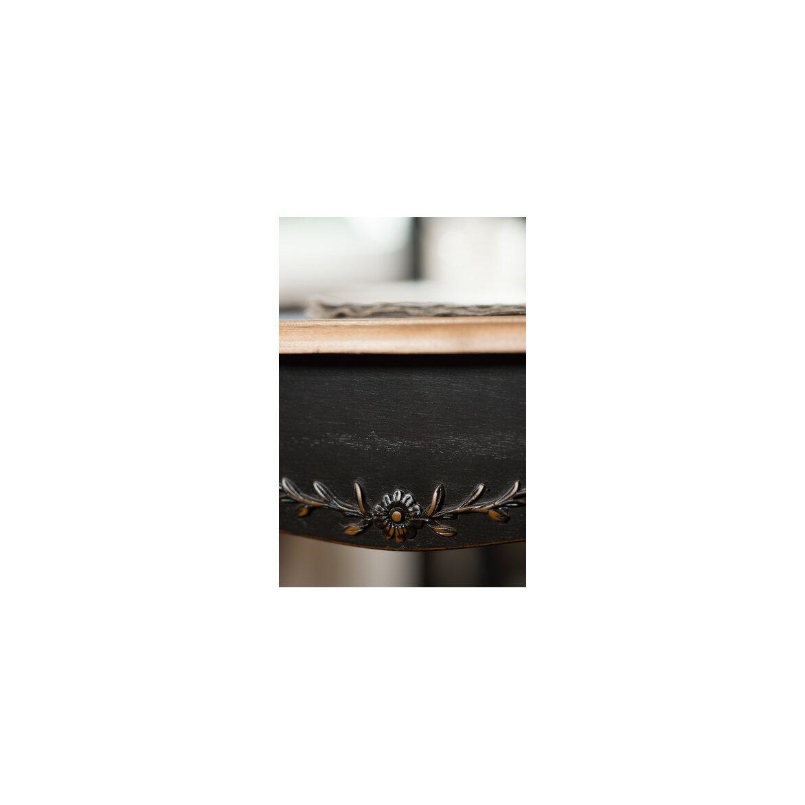 Круглый обеденный стол (большой) Leontina, черного цвета 4 | Обеденные столы Kingsby
