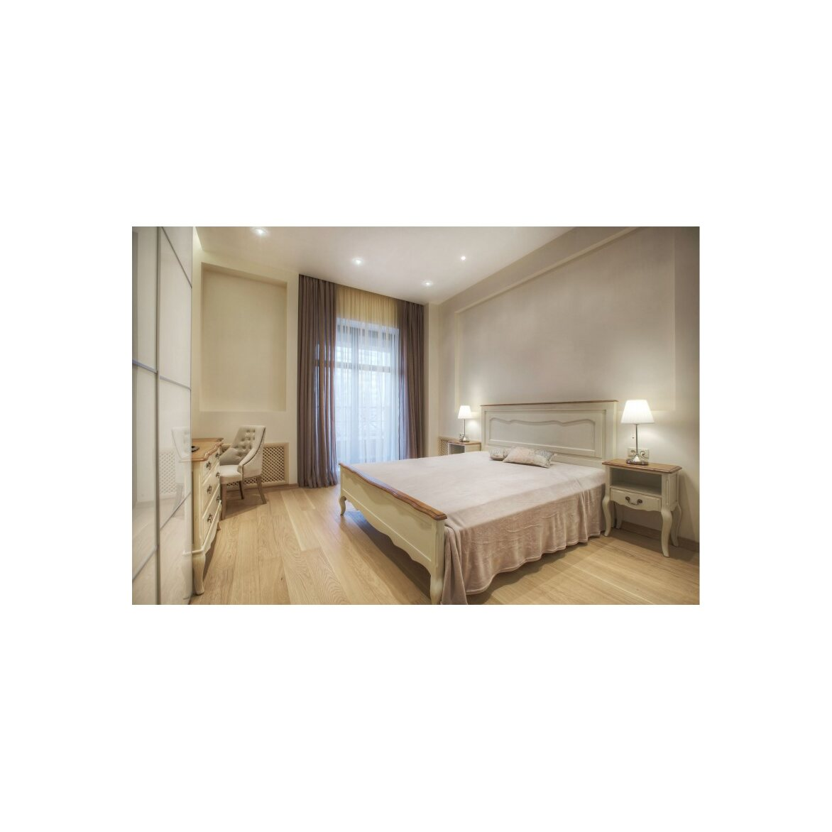 Кровать односпальная 120*200 Leontina, бежевого цвета 4 | Односпальные кровати Kingsby