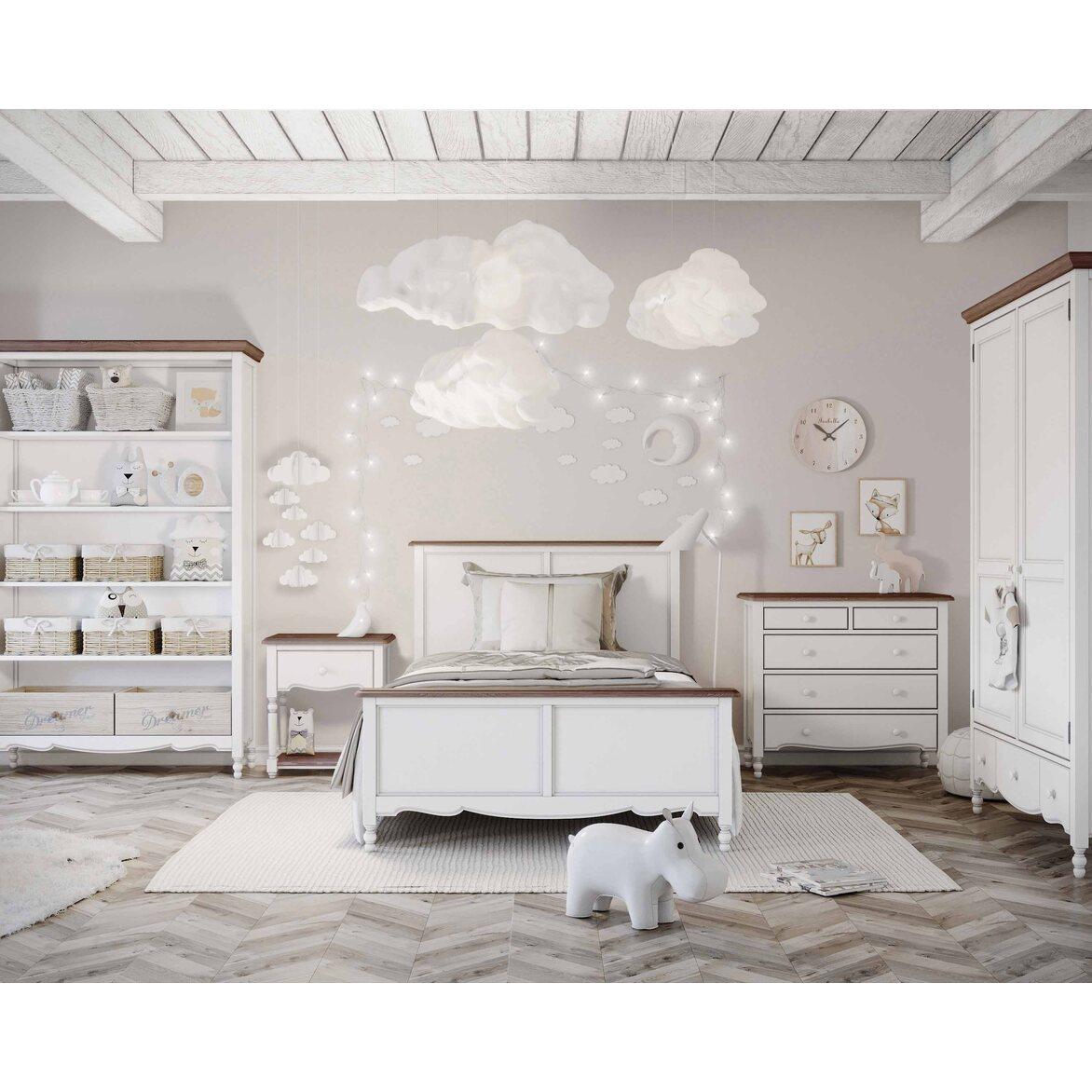 Кровать односпальная 120*200 Leblanc, белая 4 | Односпальные кровати Kingsby