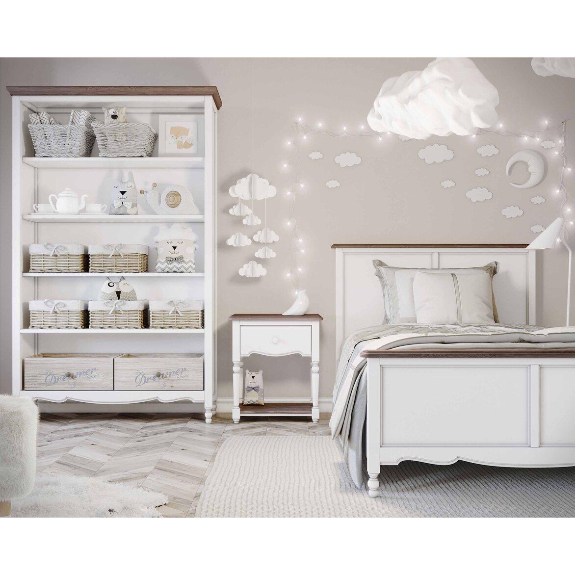 Кровать односпальная 120*200 Leblanc, белая 5 | Односпальные кровати Kingsby
