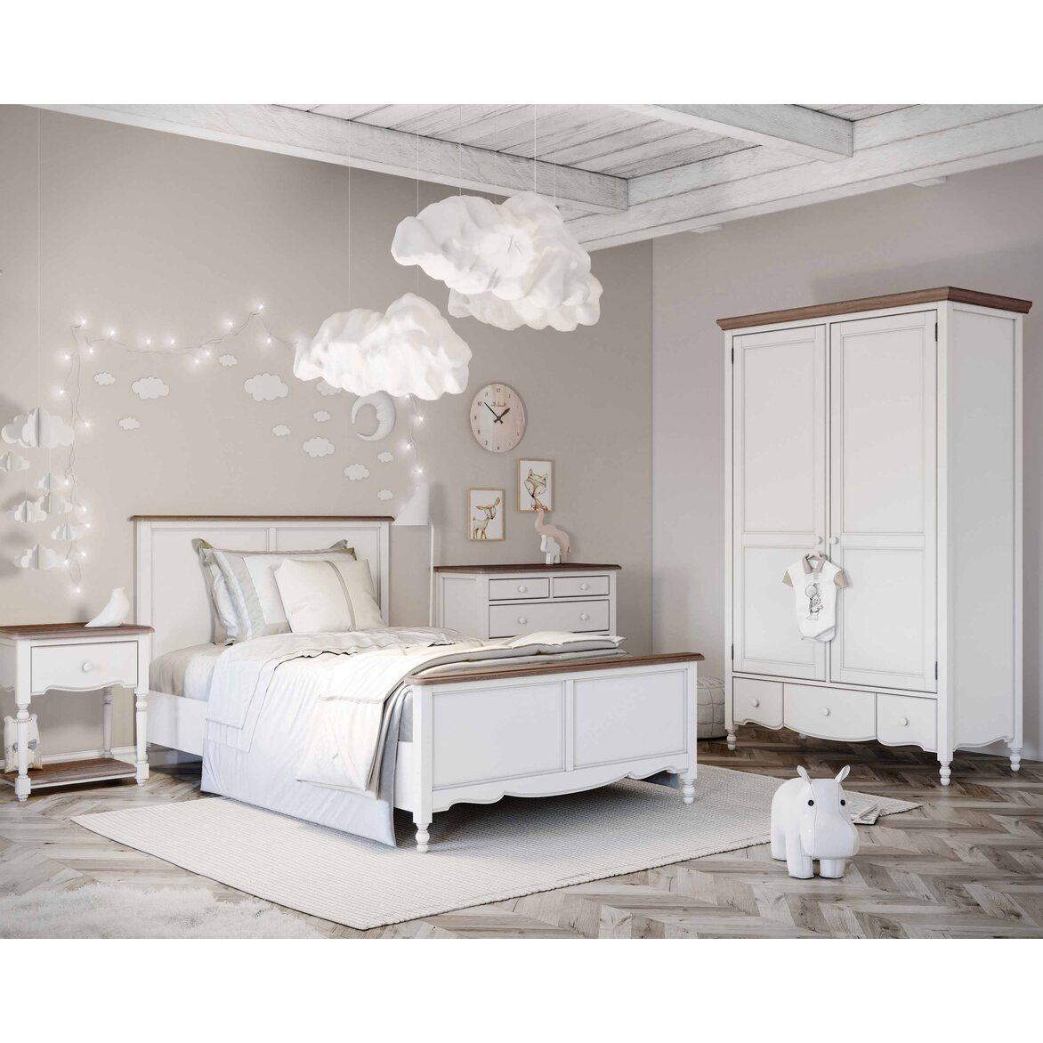 Кровать односпальная 120*200 Leblanc, белая 6 | Односпальные кровати Kingsby